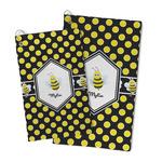 Bee & Polka Dots Microfiber Golf Towel (Personalized)