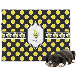 Bee & Polka Dots Minky Dog Blanket (Personalized)
