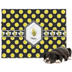 Bee & Polka Dots Minky Dog Blanket (Personalized)