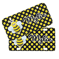 Bee & Polka Dots Mini/Bicycle License Plates (Personalized)