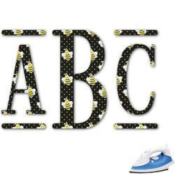 Bee & Polka Dots Monogram Iron On Transfer (Personalized)