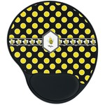 Bee & Polka Dots Mouse Pad with Wrist Support