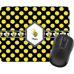 Bee & Polka Dots Mouse Pad (Personalized)