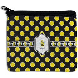 Bee & Polka Dots Rectangular Coin Purse (Personalized)