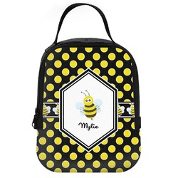 Bee & Polka Dots Neoprene Lunch Tote (Personalized)