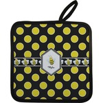 Bee & Polka Dots Pot Holder w/ Name or Text