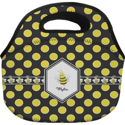 Bee & Polka Dots Lunch Bag (Personalized)