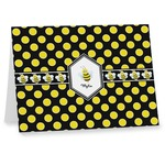 Bee & Polka Dots Note cards (Personalized)