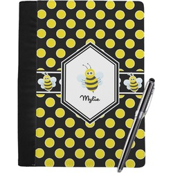 Bee & Polka Dots Notebook Padfolio (Personalized)