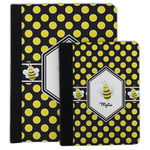 Bee & Polka Dots Padfolio Clipboard (Personalized)