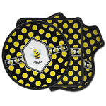 Bee & Polka Dots Iron on Patches (Personalized)