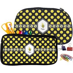 Bee & Polka Dots Pencil / School Supplies Bag (Personalized)