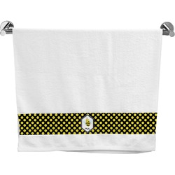 Bee & Polka Dots Bath Towel (Personalized)