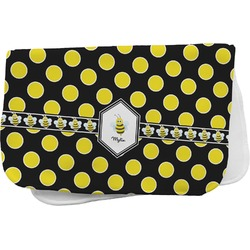 Bee & Polka Dots Burp Cloth (Personalized)