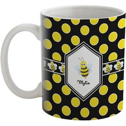 Bee & Polka Dots Coffee Mug (Personalized)