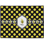 Bee & Polka Dots Door Mat (Personalized)