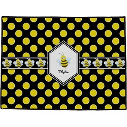 Bee & Polka Dots Door Mat (Personalized)