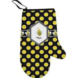 Bee & Polka Dots Right Oven Mitt (Personalized)