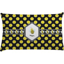 Bee & Polka Dots Pillow Case (Personalized)