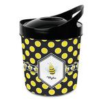 Bee & Polka Dots Plastic Ice Bucket (Personalized)