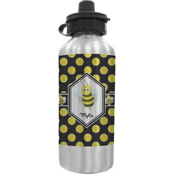 Bee & Polka Dots Water Bottle (Personalized)