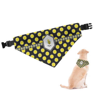 Bee & Polka Dots Dog Bandana (Personalized)