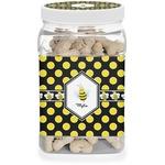 Bee & Polka Dots Dog Treat Jar (Personalized)