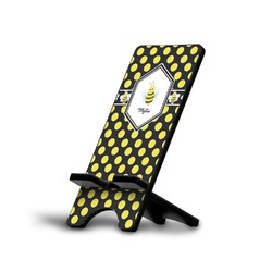 Bee & Polka Dots Phone Stand (Personalized)