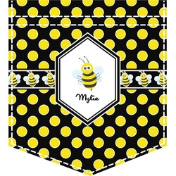 Bee & Polka Dots Iron On Faux Pocket (Personalized)