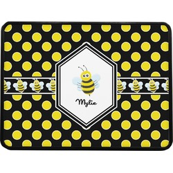 Bee & Polka Dots Rectangular Trailer Hitch Cover (Personalized)