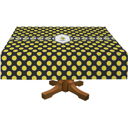"""Bee & Polka Dots Tablecloth - 58""""x102"""" (Personalized)"""