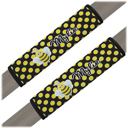 Bee & Polka Dots Seat Belt Covers (Set of 2) (Personalized)