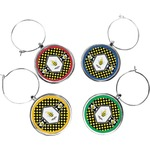 Bee & Polka Dots Wine Charms (Set of 4) (Personalized)