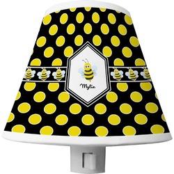 Bee & Polka Dots Shade Night Light (Personalized)