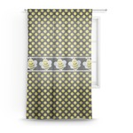 Bee & Polka Dots Sheer Curtains (Personalized)