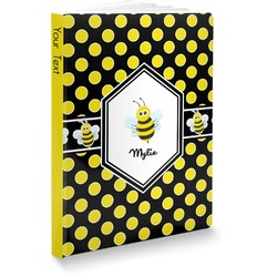 Bee & Polka Dots Softbound Notebook (Personalized)