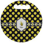 Bee & Polka Dots Stadium Cushion (Round) (Personalized)