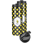 Bee & Polka Dots Stainless Steel Skinny Tumbler (Personalized)