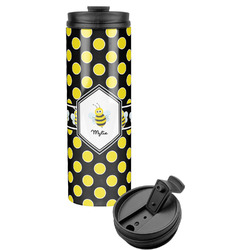 Bee & Polka Dots Stainless Steel Tumbler (Personalized)