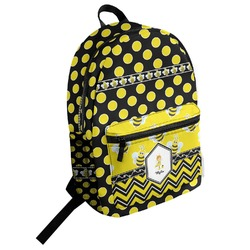Bee & Polka Dots Student Backpack (Personalized)
