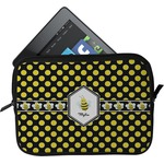 Bee & Polka Dots Tablet Case / Sleeve (Personalized)