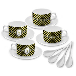 Bee & Polka Dots Tea Cup - Set of 4 (Personalized)