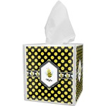Bee & Polka Dots Tissue Box Cover (Personalized)