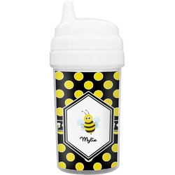 Bee & Polka Dots Toddler Sippy Cup (Personalized)