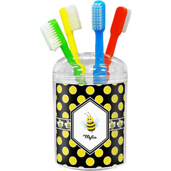 Bee & Polka Dots Toothbrush Holder (Personalized)