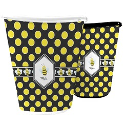Bee & Polka Dots Waste Basket (Personalized)