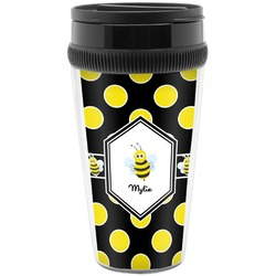 Bee & Polka Dots Travel Mugs (Personalized)