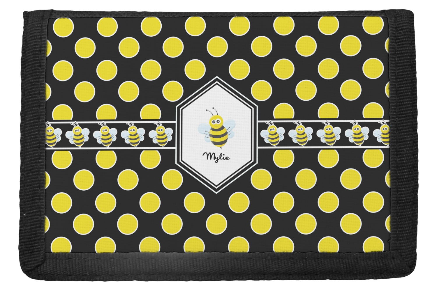 d8248eefb16 Bee   Polka Dots Trifold Wallet (Personalized) - YouCustomizeIt