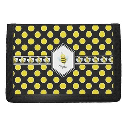 Bee & Polka Dots Trifold Wallet (Personalized)