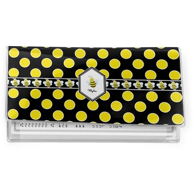 Bee & Polka Dots Vinyl Checkbook Cover (Personalized)
